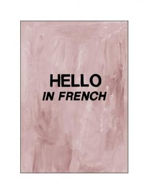 Kartka okolicznościowa Hello in French HOTEL MAGIQUE
