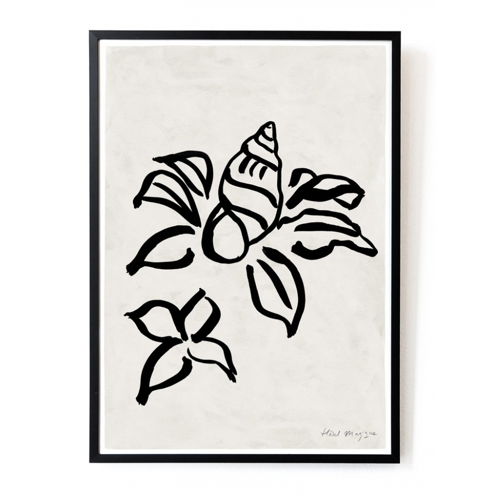 Plakat Shell flower art print A3 HOTEL MAGIQUE
