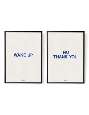 Plakat Wake up - No, thank you. The blue set A4 HOTEL MAGIQUE