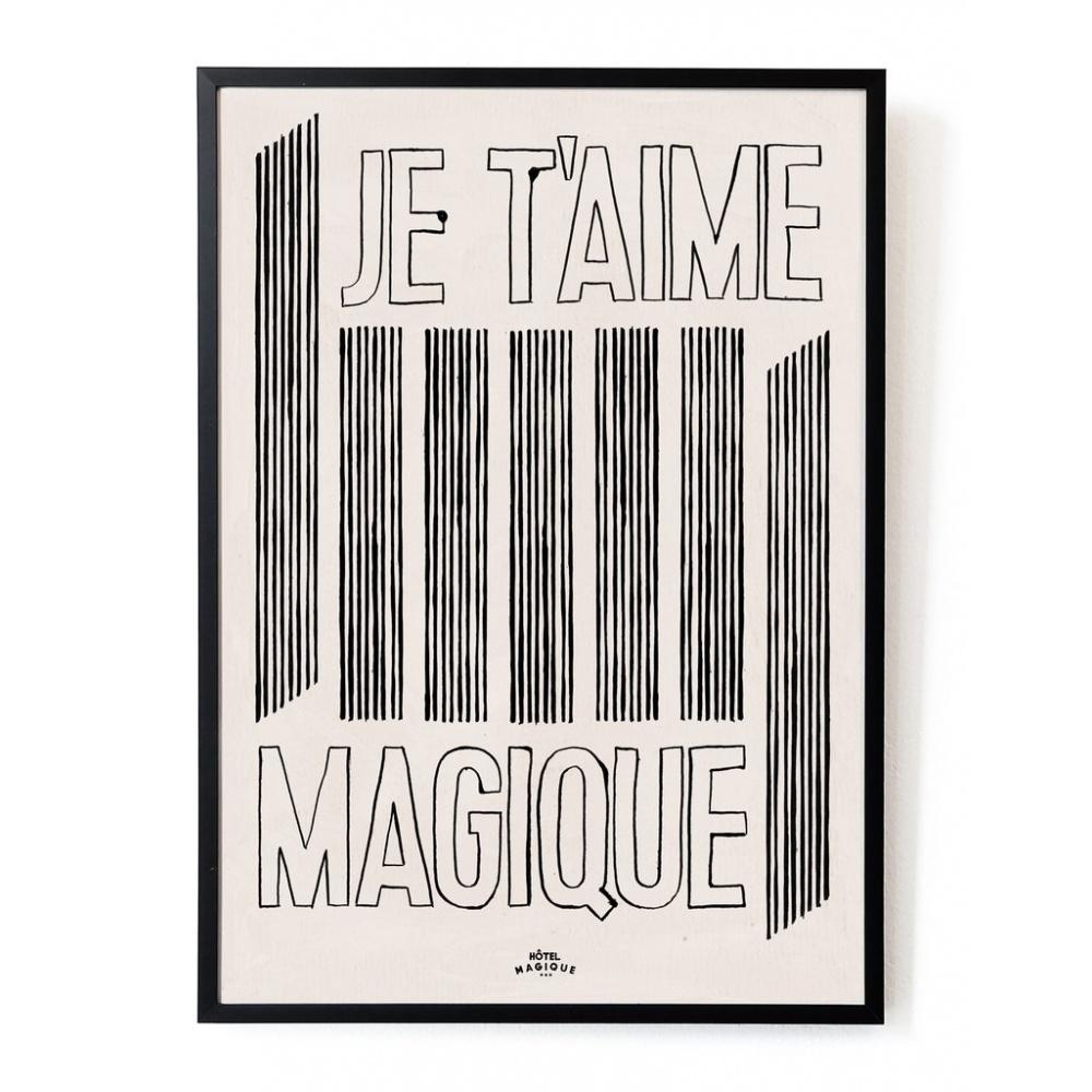 Plakat Je t'aime Magique A3 HOTEL MAGIQUE