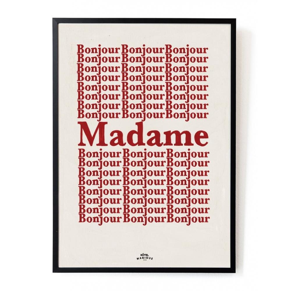 Plakat Bonjour Madame A3 HOTEL MAGIQUE
