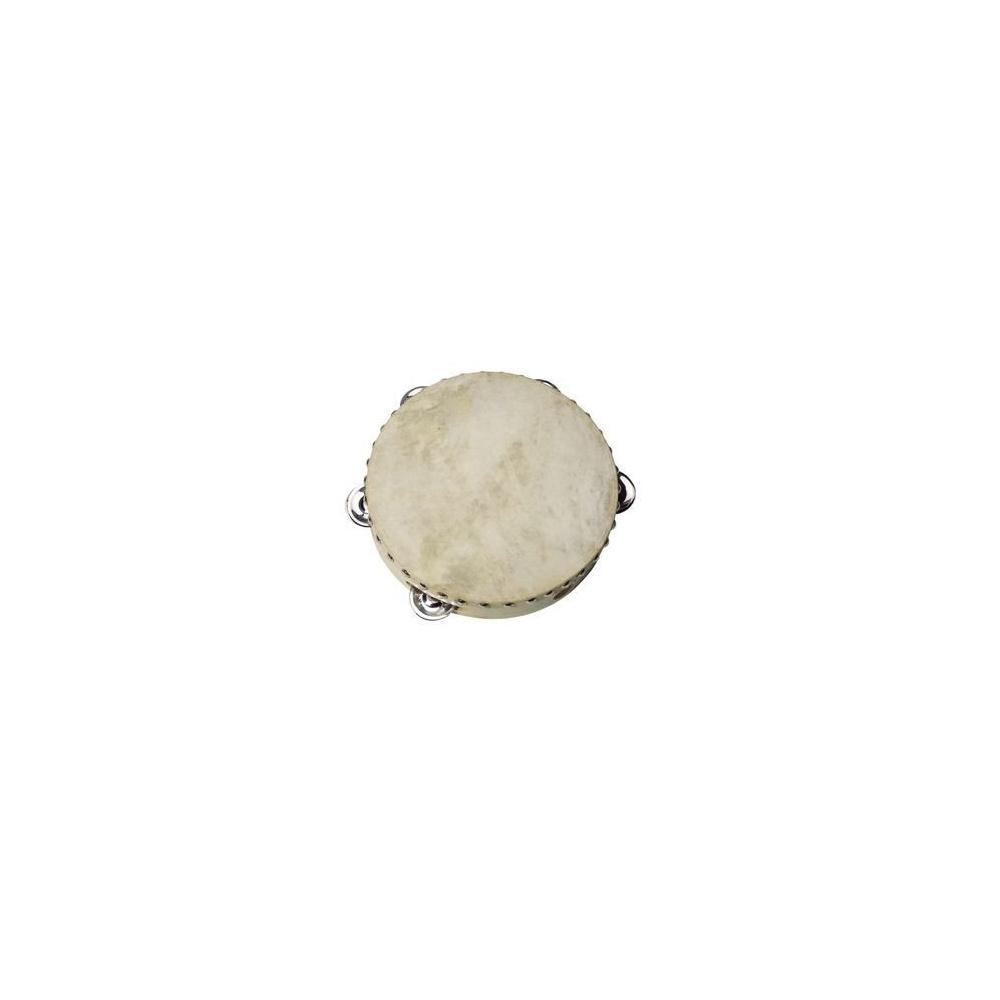 Tamburyn z 5 dzwonkami, skóra naturalna Goki