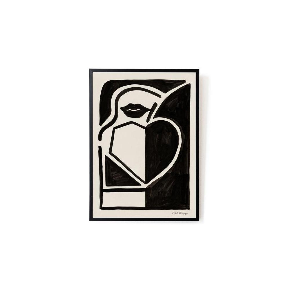 Plakat Black apple art print A3 HOTEL MAGIQUE