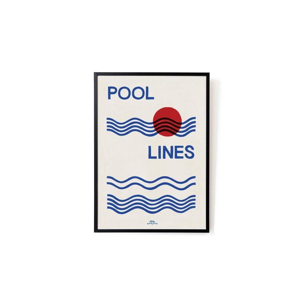 Plakat Pool lines art print A3 HOTEL MAGIQUE