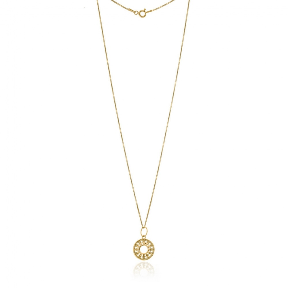 MAGIC COIN NECKLACE GOLD WISHBONE