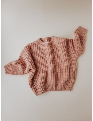 Chunky Sweater Terracotta KIDS of APRIL