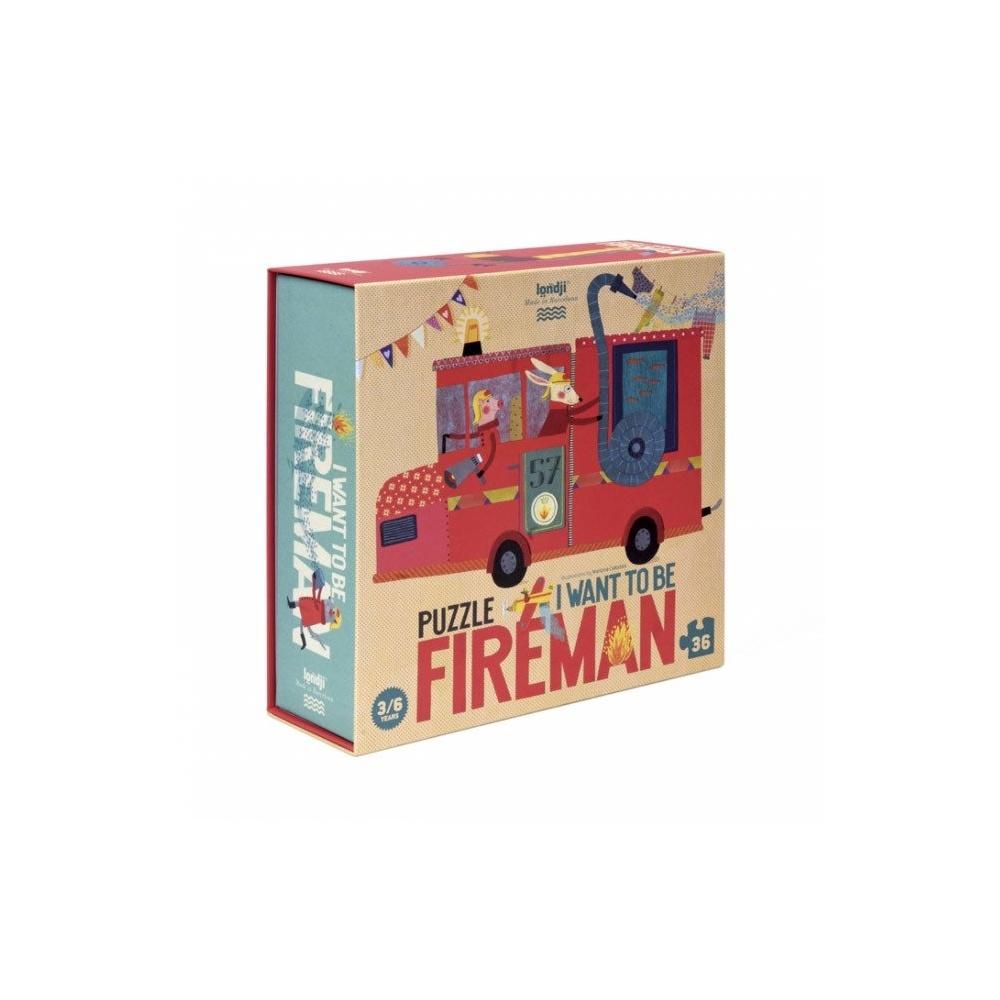 Puzzle dla dzieci Chcę być strażakiem! Londji®