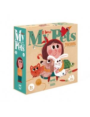 Puzzle dla dzieci Kocham Moje Zwierzątka Londji®