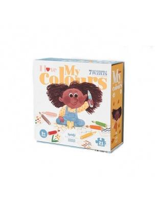 Puzzle dla dzieci Kocham Moje Kolory Londji®
