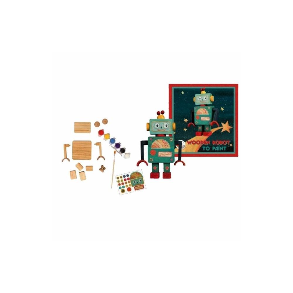 Drewniany robot do zbudowania Egmont Toys®