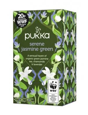 Herbata Serene Jasmine Green 20 saszetek Pukka