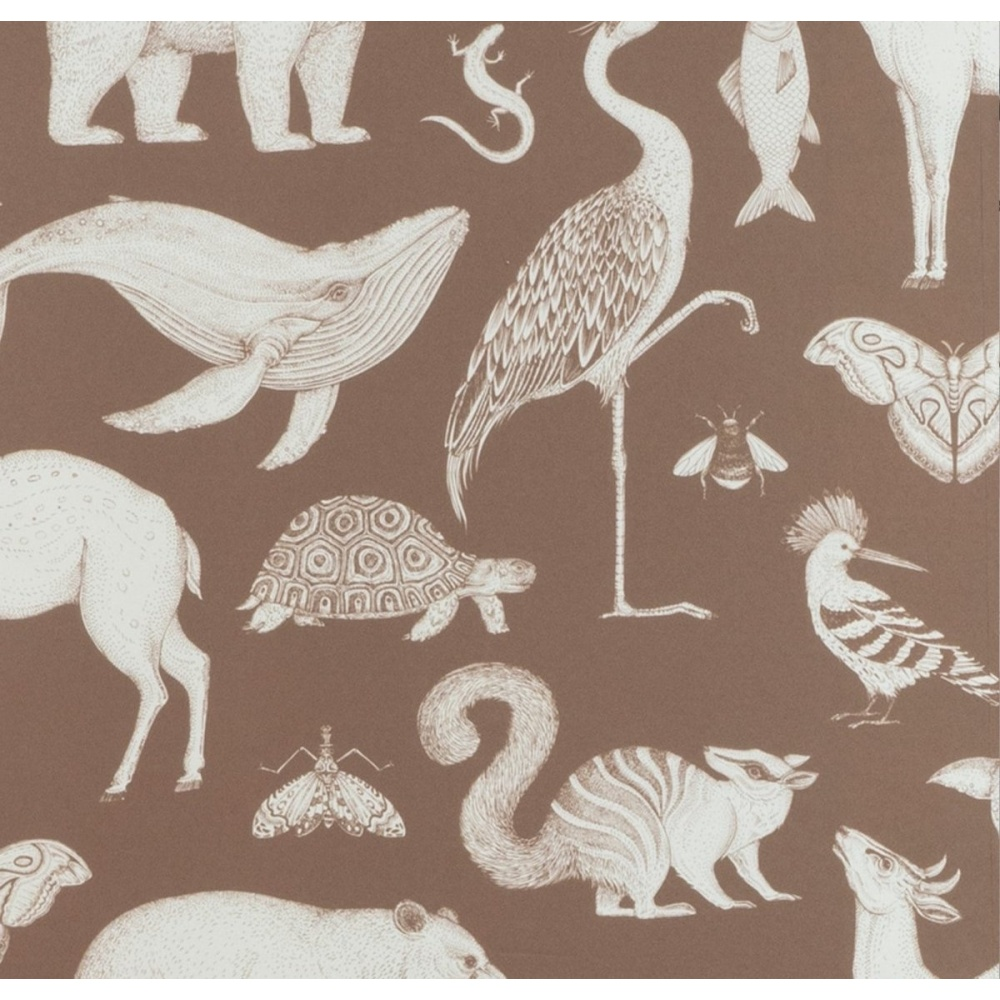Tapeta Katie Scott Wallpaper - Animals Toffee FERM LIVING