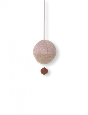 Pozytywka Ball Knitted Music Mobile Rose FERM LIVING