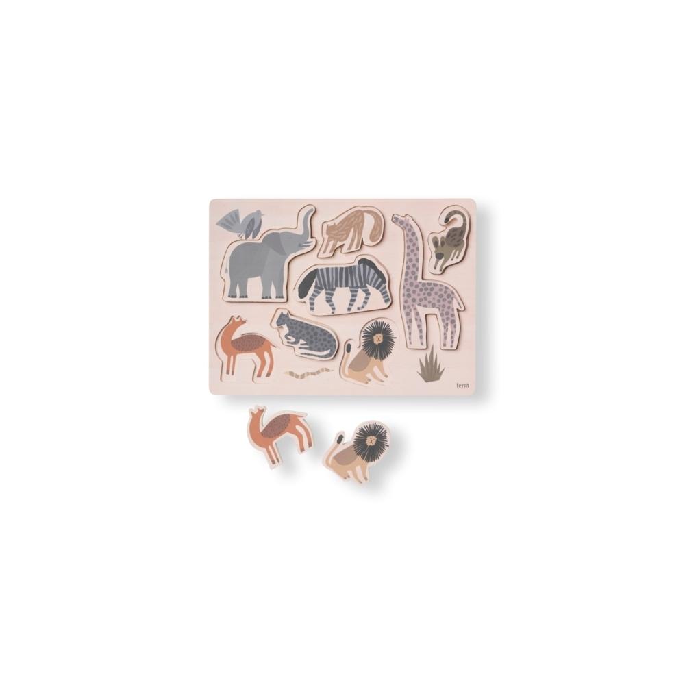 Drewniana układanka Safari Puzzle FERM LIVING