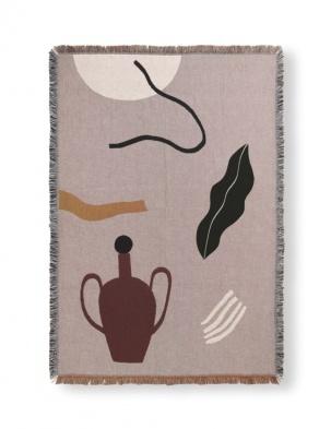 Koc bawełniany Mirage Blanket Grey FERM LIVING
