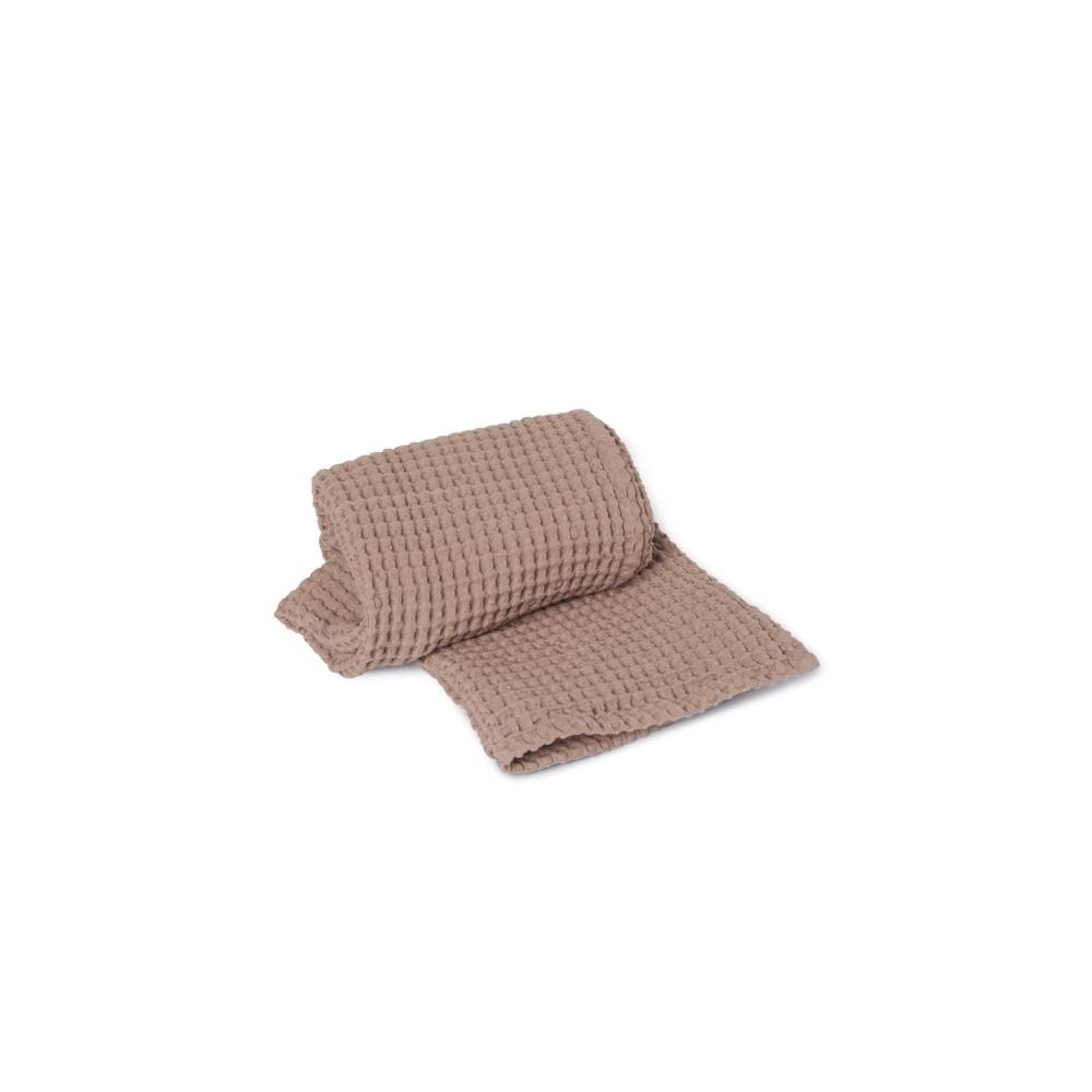 Wafelkowy ręcznik Organic Bath Towel Dusty Rose FERM LIVING