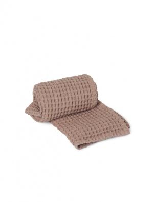 Wafelkowy ręcznik Organic Hand Towel Dusty Rose FERM LIVING