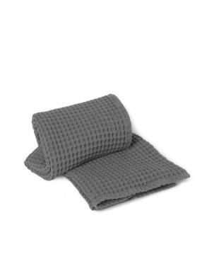 Wafelkowy ręcznik Organic Bath Towel Grey FERM LIVING