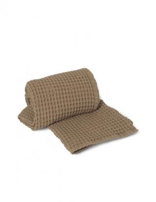 Wafelkowy ręcznik Organic Bath Towel Tan FERM LIVING