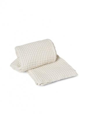 Wafelkowy ręcznik Organic Bath Towel White FERM LIVING