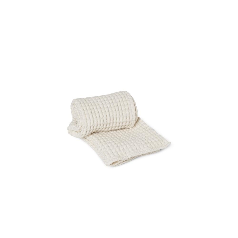 Wafelkowy ręcznik Organic Hand Towel White FERM LIVING