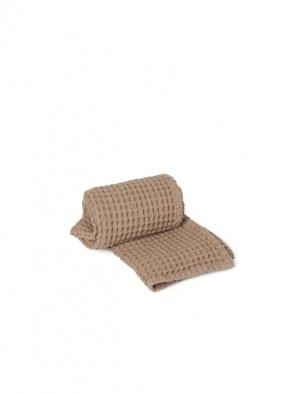 Wafelkowy ręcznik Organic Hand Towel Tan FERM LIVING