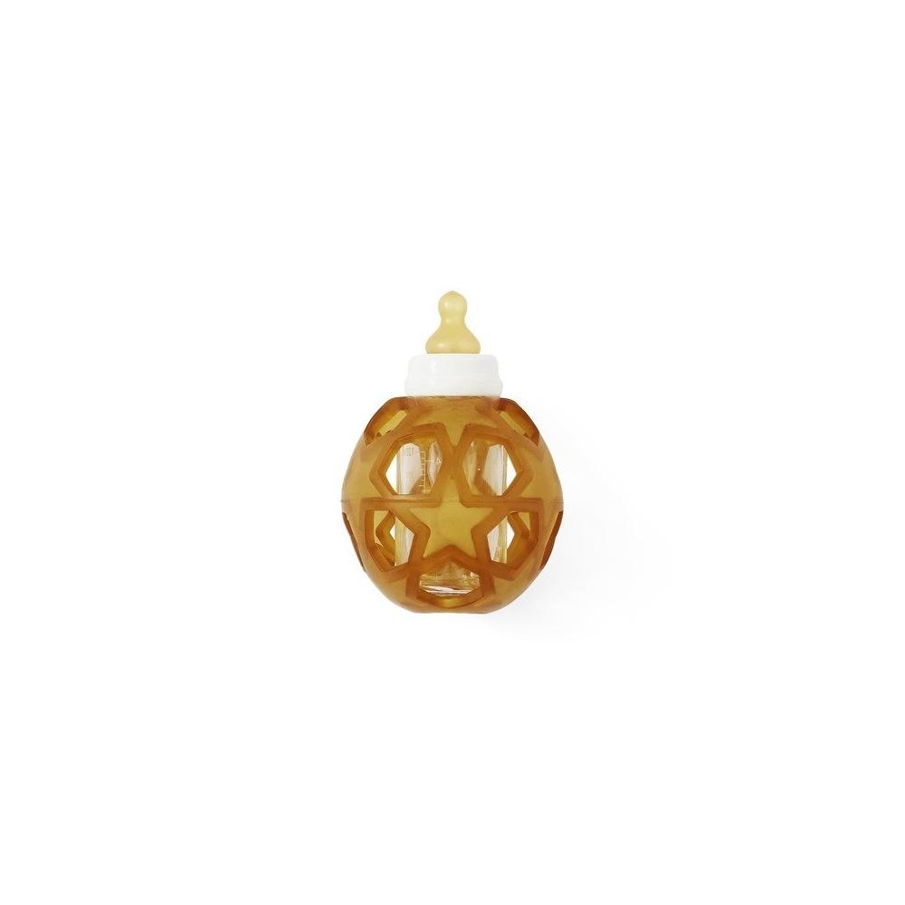 Butelka szklana z kauczukową osłonką w kształcie gwiazdek Hevea