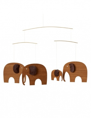 Mobil Elephant Party teak Flensted Mobiles
