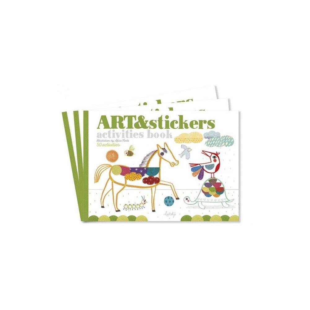 Zeszyt - kolorowanka wyklejanka do kreatywnej zabawy Art&Stickers Londji®
