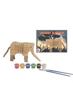 Drewniany słoń do pomalowania Egmont Toys