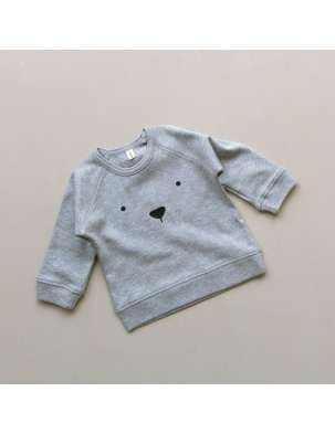 Bluzka Grey Jersey BEAR ORGANIC ZOO