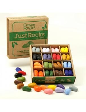 Kredki w pudełku 64 sztuki - 16 kolorów Crayon Rocks