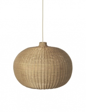 Rattanowa Lampa Braided Belly Lamp Shade FERM LIVING