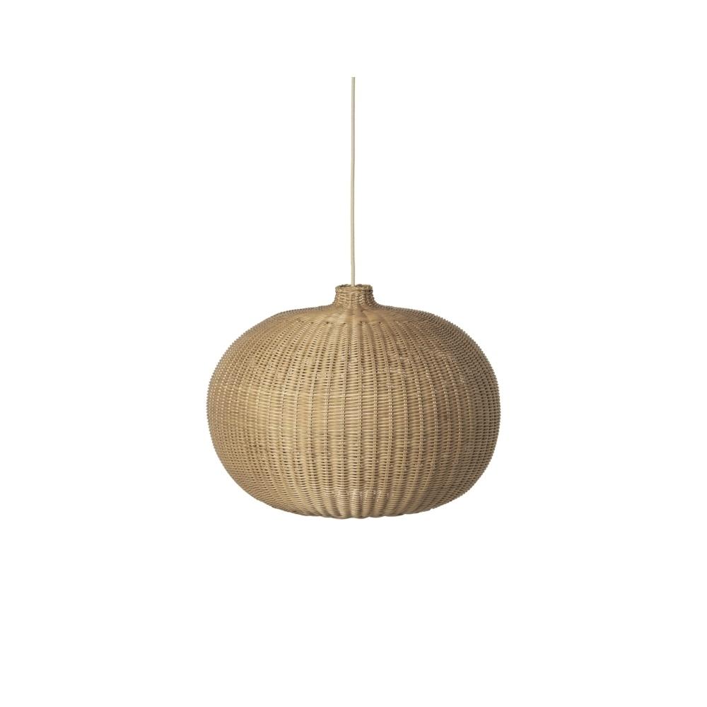 Rattanowa Lampa Braided Belly Lamp Shade FERM LIVING