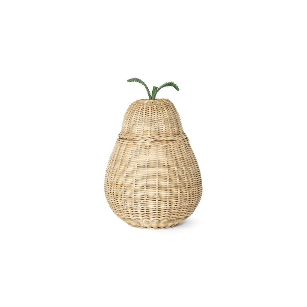 Rattanowy kosz gruszka Pear Braided Storage BIG FERM LIVING