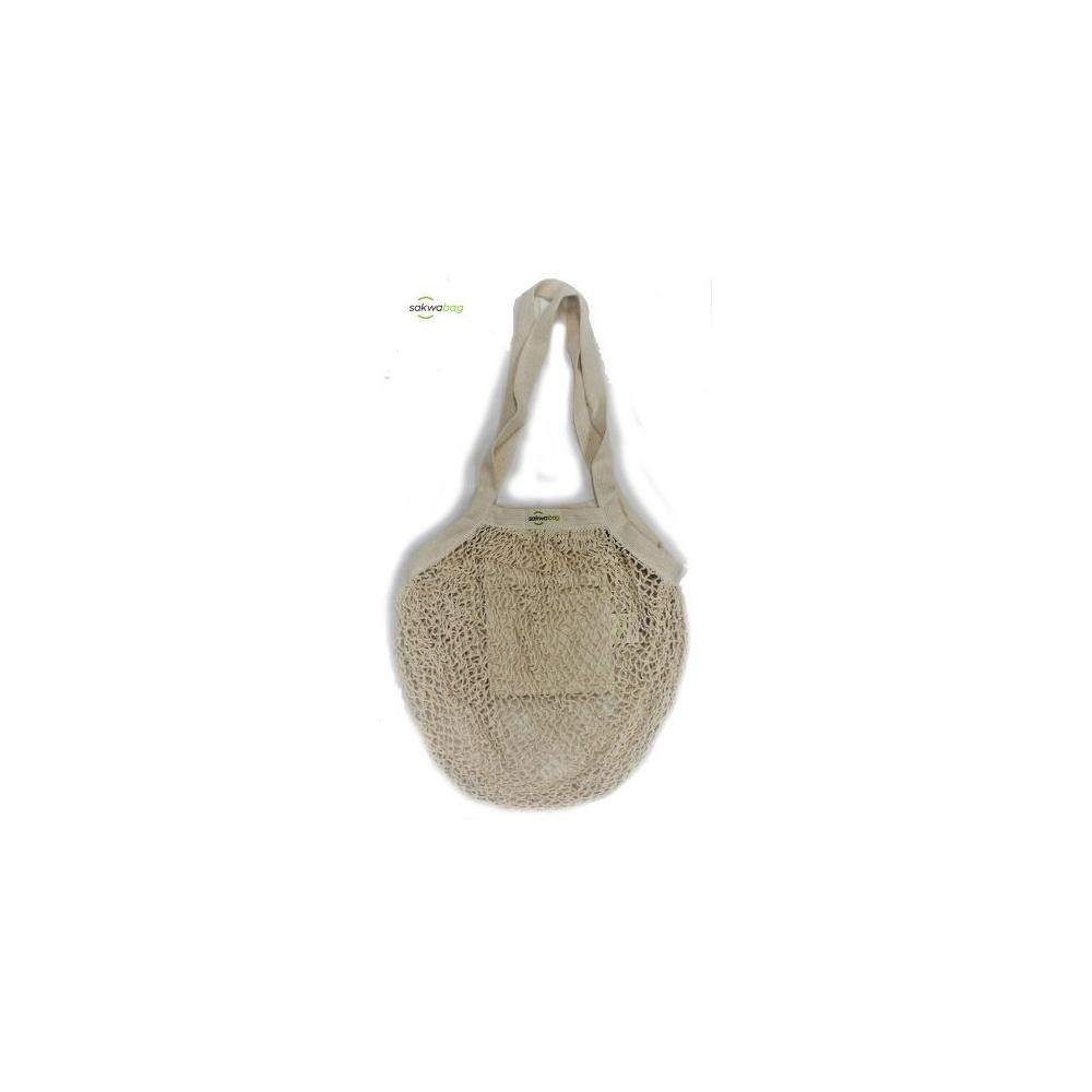Eko Torba z kieszonką zero waste długie uszy 60cm Sakwabag