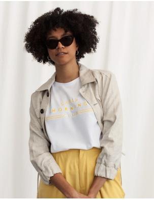 T-shirt damski z bawełny organicznej EARLY MORNING CLUB WOMOM