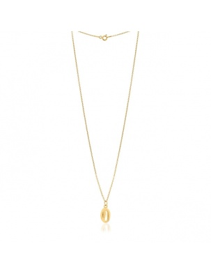 NASZYJNIK KAURI NECKLACE GOLD NEW WISHBONE