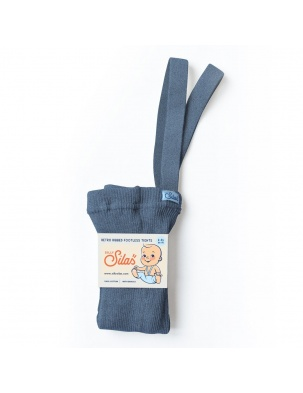 Legginsy z szelkami Footless Steel Blue Blend SILLY SILAS