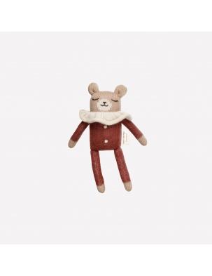 Teddy knit toy sienna pyjamas Main Sauvage