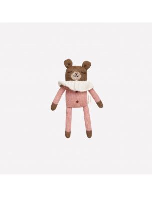 Teddy knit toy rose pyjamas Main Sauvage
