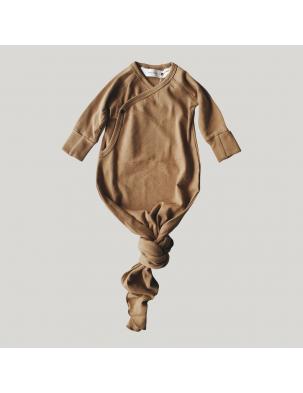 Body kokon z bawełny organicznej TAUPE SUSUKOSHI