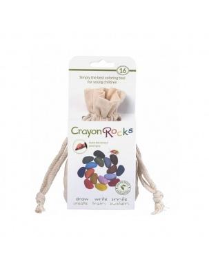 Kredki w bawełnianym woreczku - 16 kolorów Crayon Rocks