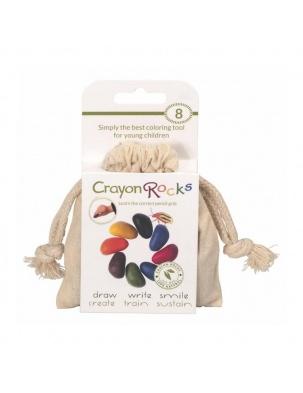 Kredki w bawełnianym woreczku - 8 kolorów Crayon Rocks