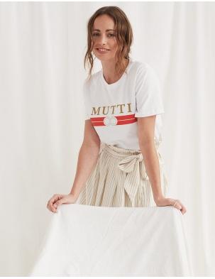 T-shirt z bawełny organicznej MUTTI WOMOM