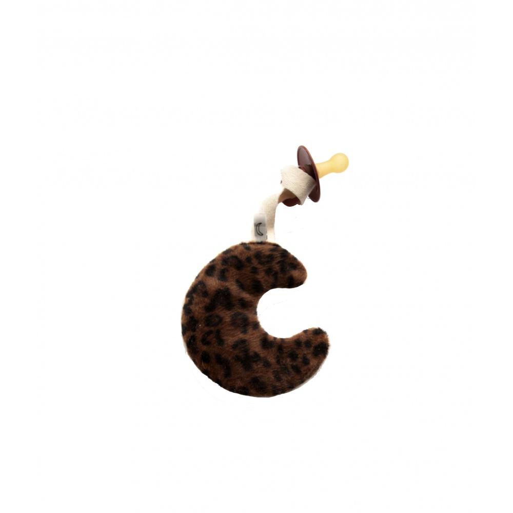 Zawieszka do smoczka księżyc Leopard DAPPERMAENTJE