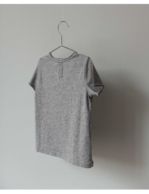T-SHIRT TEE NOR GREY MELANGE CO LABEL