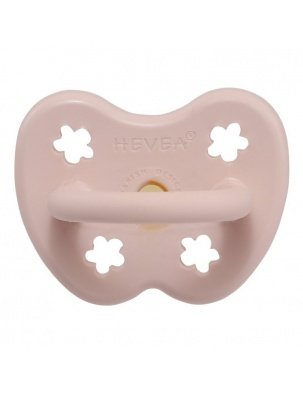 Okrągły smoczek kauczukowy POWDER PINK HEVEA
