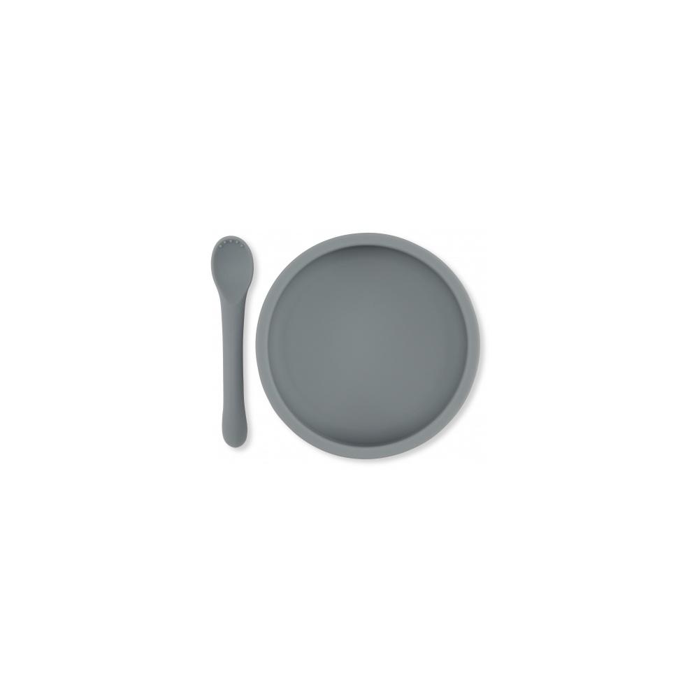 Silikonowy zestaw do jedzenia Konges Sloejd