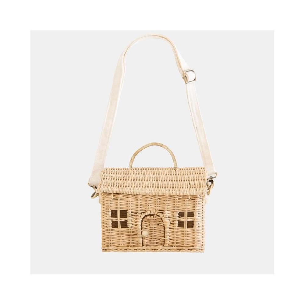 Mała torebka w kształcie domku CASA BAG STRAW Olli ella